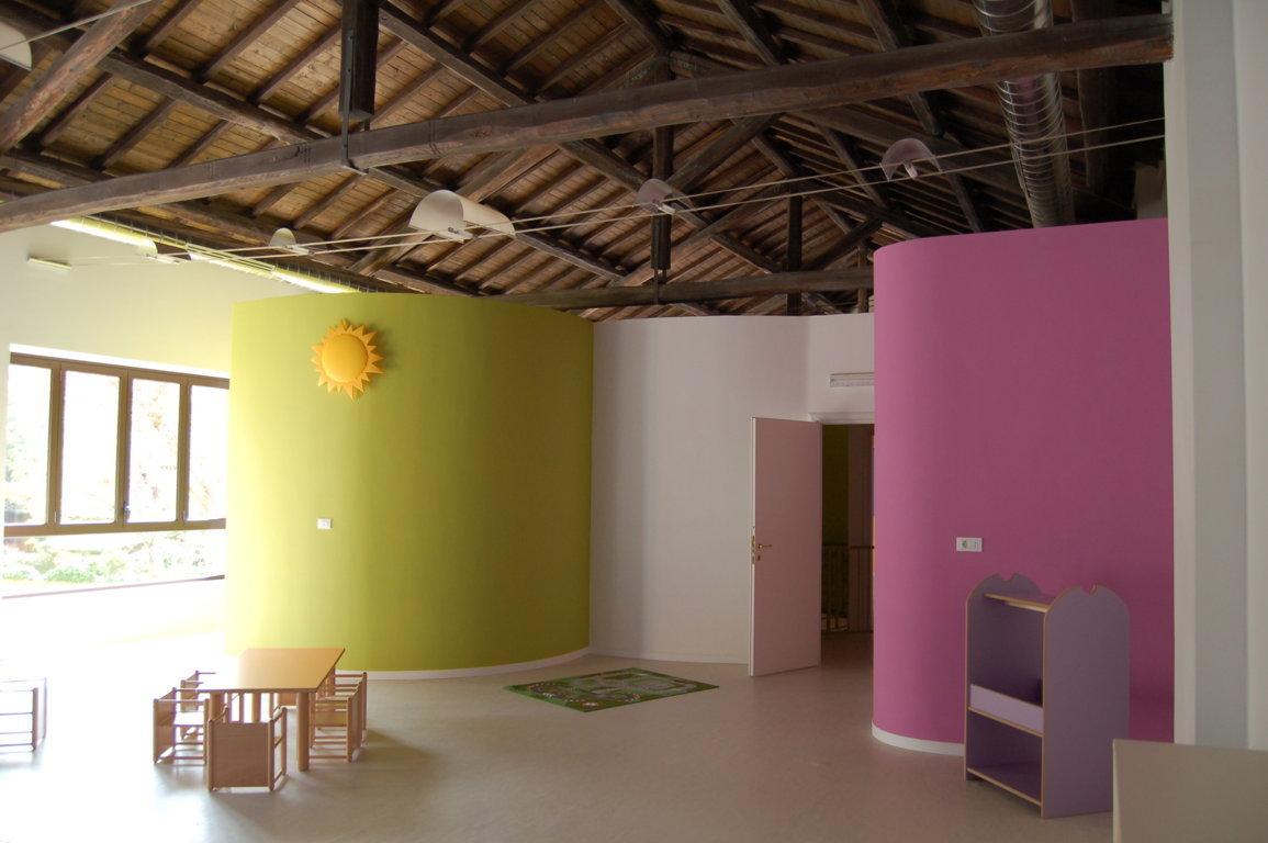 Architetto roma alessio virgili asilo nido il giardino for Arredamento asilo nido usato