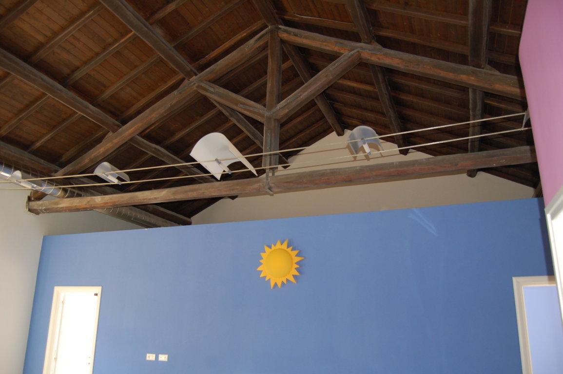 Dettaglio capriata del tetto
