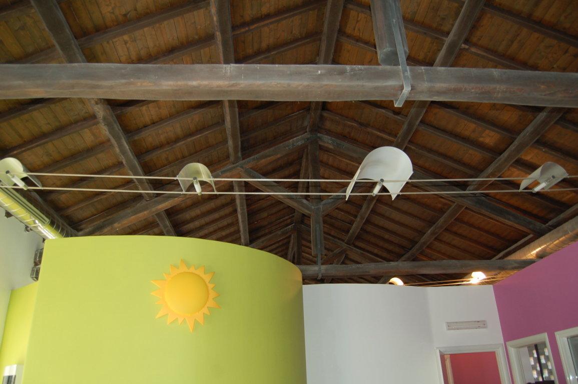 Spazio Attività bambini grandi - dettaglio tetto