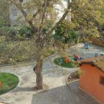 Asilo Nido Il Giardino Fatato - Area giochi esterna - vista dall'alto