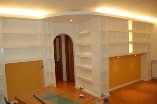 spazi interni Ristrutturazione Appartamento Gentile - Libreria soggiorno B