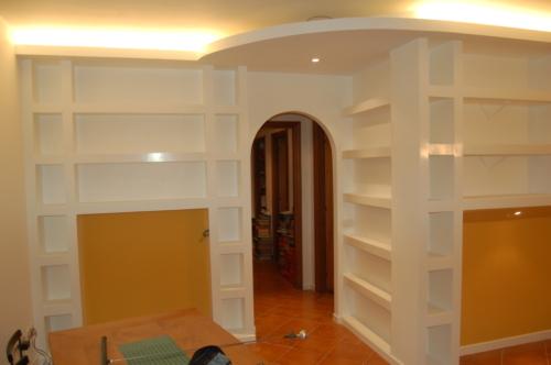 Spazi Interni Ristrutturazione Appartamento Gentile - Libreria soggiorno A