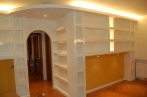 spazi interni Ristrutturazione Appartamento Gentile - Libreria soggiorno C