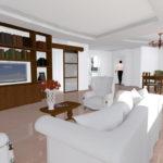 Ristrutturazione Appartamento EUR - Rendering soggiorno B