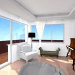 Ristrutturazione Appartamento EUR - Rendering soggiorno A