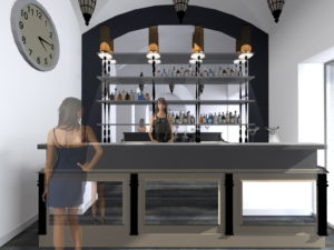 Progetto Ristorante DaDa Roma - Rendering bar B