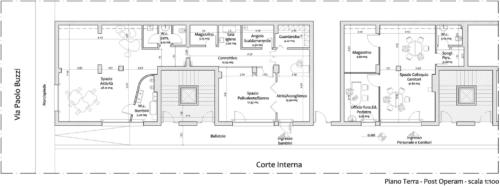 Progetto Spazio Be.bi. Il Passaggio Segreto - Planimetria dei locali