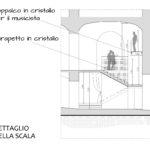 Progetto Ristorante DaDa Roma - particolare sezione scala