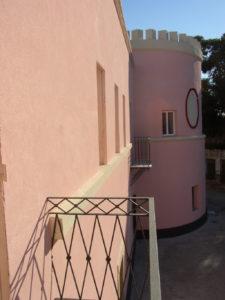 Restauro immobili - ex Carcere dell'isola di S. Stefano - Ventotene - Particolare del restauro da uno dei balconi del piano primo
