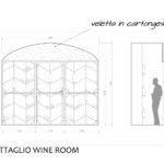 Progetto Ristorante DaDa Roma - Particolare wine room