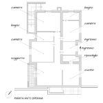 Ristrutturazione Villa Rocca Priora (Roma) - Planimetria ante operam