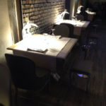 Progetto Ristorante DaDa Roma - Particolare dell'arredo della sala ristorante A