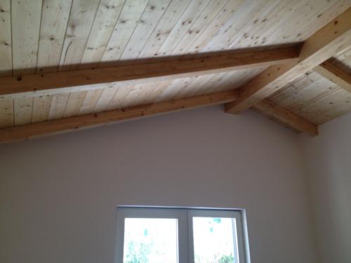 Ampliamento Piano Casa Villa Casal Palocco - Particolare tetto in legno A