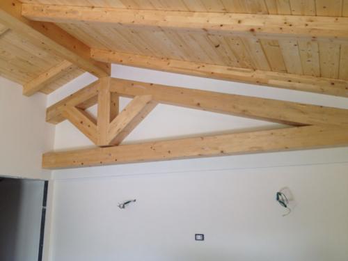 Ampliamento Piano Casa Villa Casal Palocco - Particolare capriata tetto in legno A