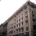 Restauro Edilizio Palazzo Storico Via del Tritone - Roma - Angolo facciata Principale con Via del Boccaccio
