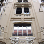 Restauro Palazzo Storico Via del Tritone - Roma - Particolare finestre facciata