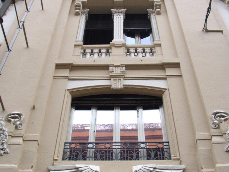 Restauro Edilizio Palazzo Storico Via del Tritone - Roma - Particolare finestre facciata