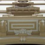 Restauro Palazzo Storico Via del Tritone - Roma - Modanatura sotto edicola finestra A