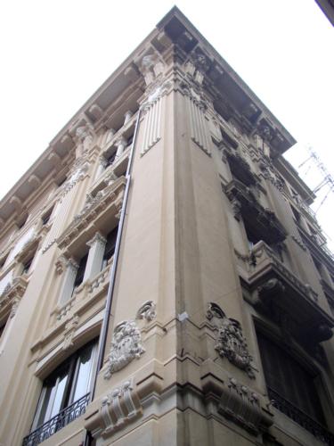 Restauro Edilizio Palazzo Storico Via del Tritone - Roma - Angolo facciata A