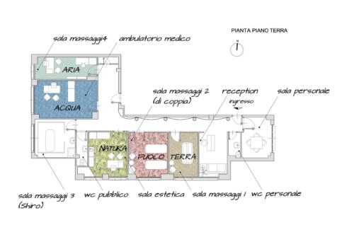 Progetto Centro Benessere Architetto Roma Alessio Virgili - Centro Benessere pianta struttura