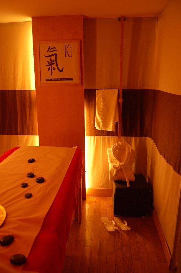 Progetto Centro Benessere Stanza Shirò - massaggi cromoterapici e ayurvedici - Centro benessere Aura a Roma