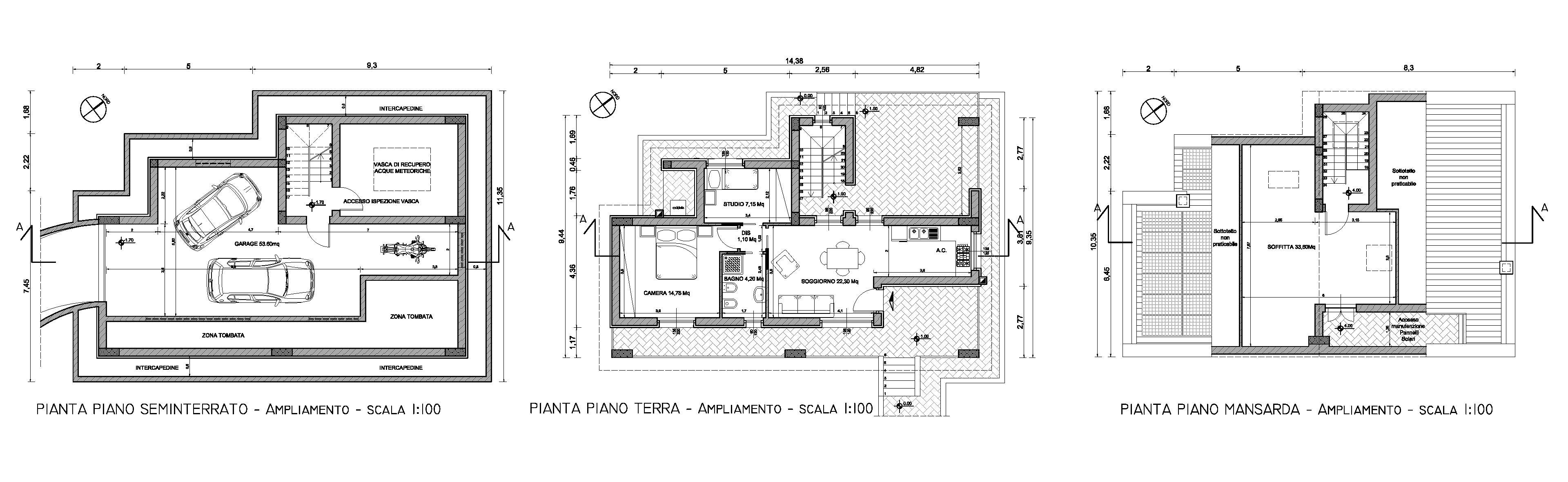 Architetto roma alessio virgili ampliamento piano casa for Planimetrie al piano di sopra