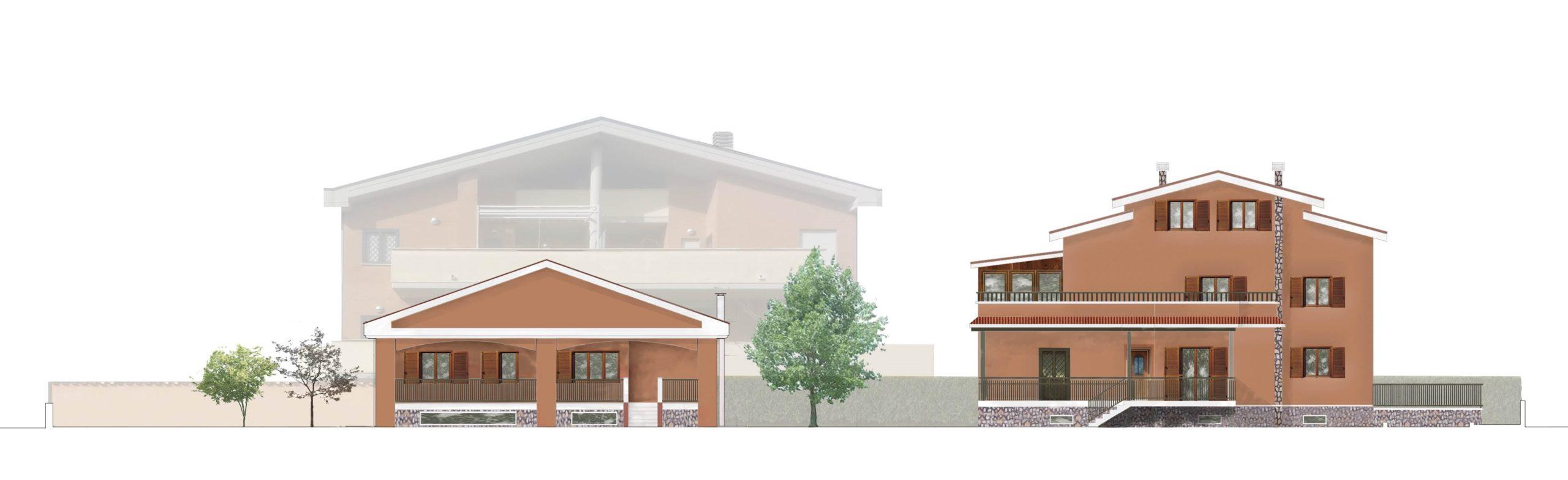 Piano Casa Villa Anagnina - Prospetto dopo l'intervento