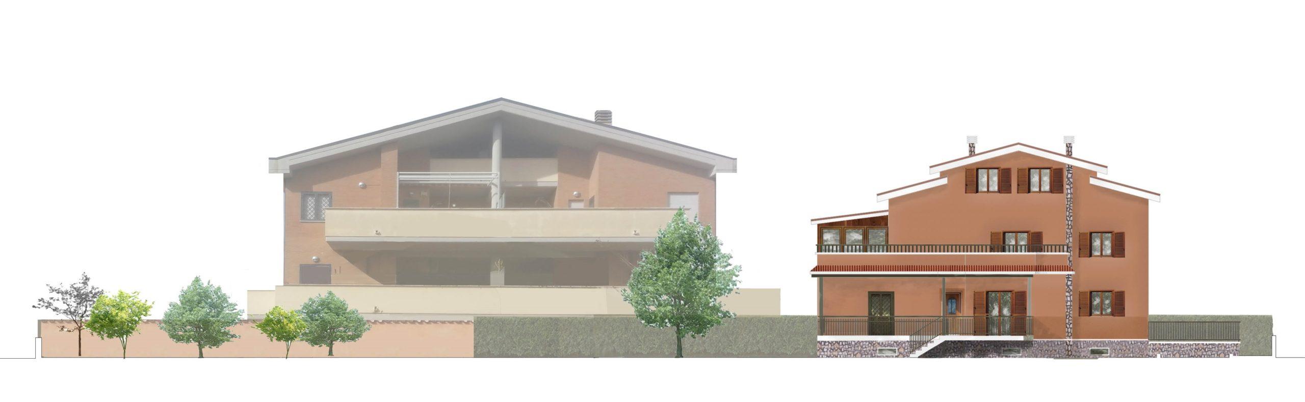 Piano Casa Villa Anagnina - Prospetto prima dell'intervento